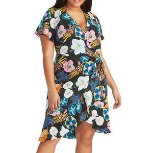 NWT RACHEL Rachel Roy Floral Print Wrap Dress